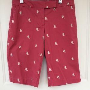 Talbots Seahorse Bermuda Khaki Shorts
